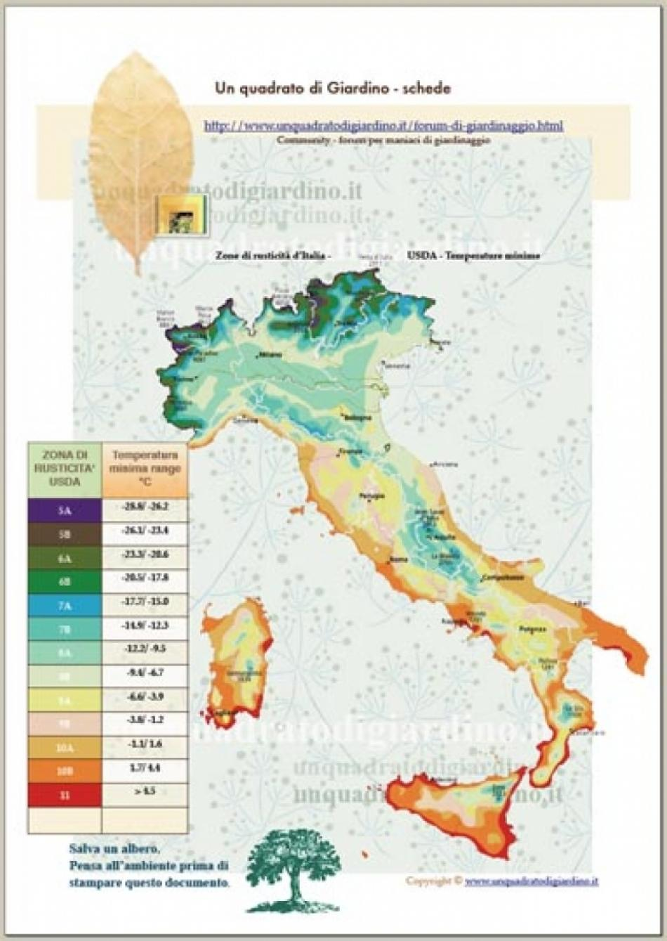 Cartina Dellitalia Con Zone Climatiche.Download Ad Alta Risoluzione Mappa Temperatura Usda Dell Italia