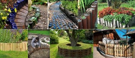 Bordure e recinzioni fai da te per giardini - Idee giardino fai da te ...