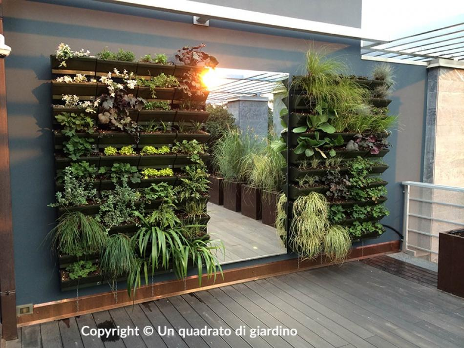 Realizziamo giardini e orti verticali per esterni e interni - Pannelli per giardini verticali ...